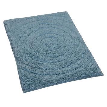 Textile Decor Castle Castle Hill 100% Cotton Echo Spray Latex Back Bath Rug, 34 H X 21 W, Light Blue