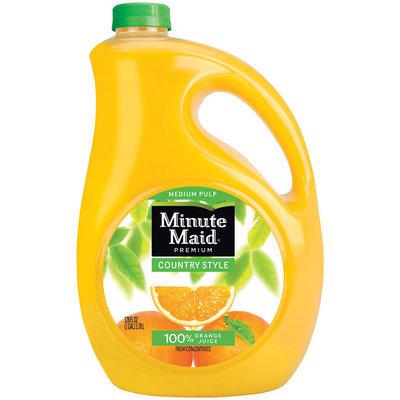 Minute Maid Orange Juice Country Style Medium Pulp 128 fl oz Plastic Bottle