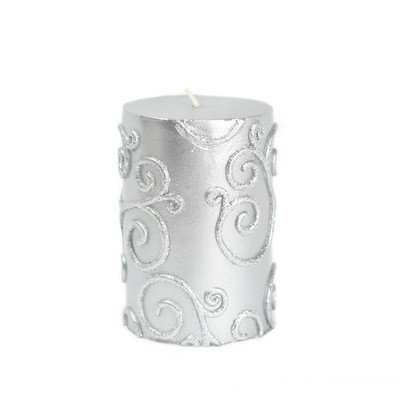 Zest Candle Scroll Pillar Candle Size: 4