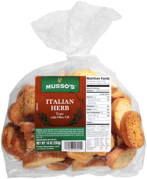 Musso's™ Oven Baked Italian Herb Toast with Olive Oil 10 oz. Bag