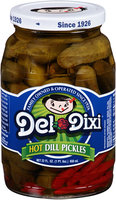 Del Dixi® Hot Dill Pickles 22 fl. oz. Jar