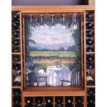 Wine Cellar Designer 12 Glass Hanging Rack Finish: Unstained Premium Redwood