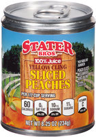 Stater Bros.® Yellow Cling Sliced Peaches 8.25 oz. Can