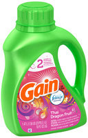 Gain with Febreze Freshness Thai Dragon Fruit Scent Liquid Laundry Detergent 50 fl. oz. Bottle