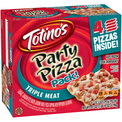 Totino's™ Triple Meat Party Pizzas™ 4-10.5 oz. Packs