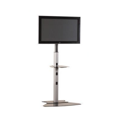 Chief PF12000 Large Flat Panel Floor Stand without Interface, Height Adjustment 4 to 7', Silver