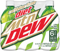 Caffeine Free Diet Mountain Dew® 6 Pack 16 fl. oz. Plastic Bottles