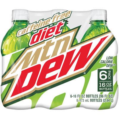 Caffeine Free Diet Mountain Dew® 6 Pack 16 fl. oz. Plastic Bottles