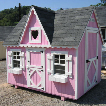 Little Cottage Co. Little Cottage 4x6 VP-WPNK 4x6 Victorian Playhouse - Panelized Kit