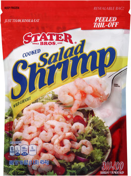 Stater Bros.® Peeled Tail-Off Cooked Salad Shrimp 16 oz. Bag