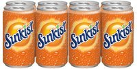 Sunkist® Orange Soda 8-7.5 fl. oz. Cans