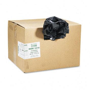 Webster Ind. Reclaim 100 Commercial Can Liners Webster Reclaim Black