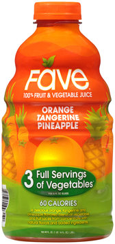 Fave® Orange Tangerine Pineapple 100% Fruit & Vegetable Juice 46 fl. oz. Bottle