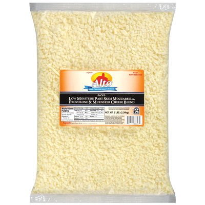 Alto® Diced Low Moisture Part Skim Mozzarella/Provolone & Muenster Cheese Blend 5 Lb Bag