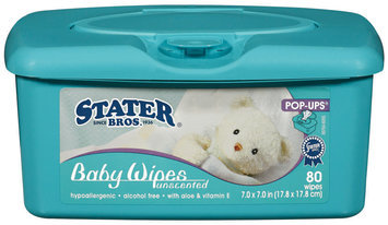Stater Bros. Pop-Ups Unscented Baby Wipes 80 Ct Tub