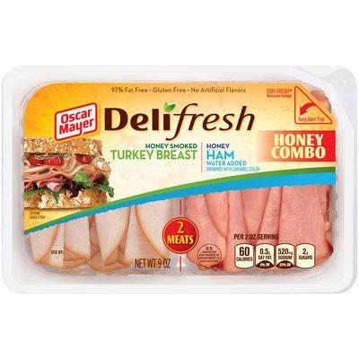 Oscar Mayer Deli Fresh Honey Combo Honey Smoked Turkey Breast/Honey Ham Lunch Meat 9 oz. Tub