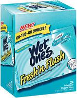 Wet Ones Fresh N Flush Singles 24 Ct Box
