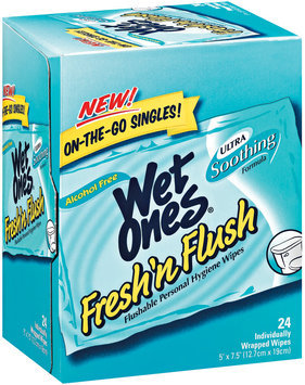 Wet Ones Fresh N Flush Singles 24 Ct Box