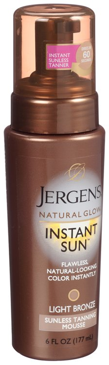 jergens natural glow instant sun light bronze sunless tanning. Black Bedroom Furniture Sets. Home Design Ideas