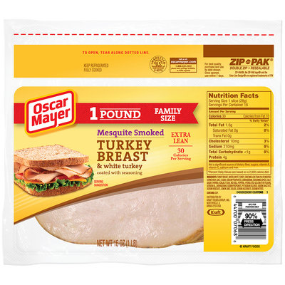 Oscar Mayer Mesquite Smoked Turkey Breast Cold Cuts 16 oz. ZIP-PAK®