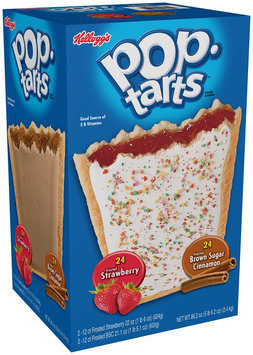 Kellogg's® Pop-Tarts® Frosted Strawberry/Frosted Brown Sugar Cinnamon Toaster Pastries Variety Pack 48 ct Box