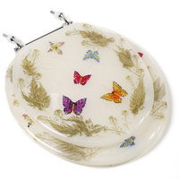 Comfort Seats Butterfly Acrylic Toilet Seat with Chrome Hinges