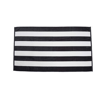 Terry Town Beach Towel Color: Black / White