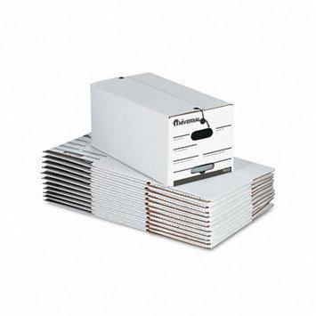 Universal Battery Universal White String/Button Storage Box Letter Fiberboard