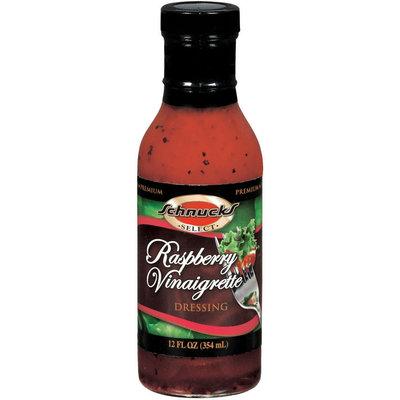 Schnucks Premium Raspberry Vinaigrette Salad Dressing 12 Fl Oz Glass Bottle