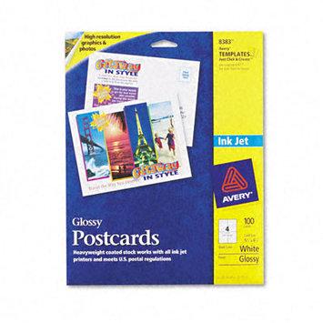 Avery Inkjet Glossy Photo-Quality Postcards, 100/Pack