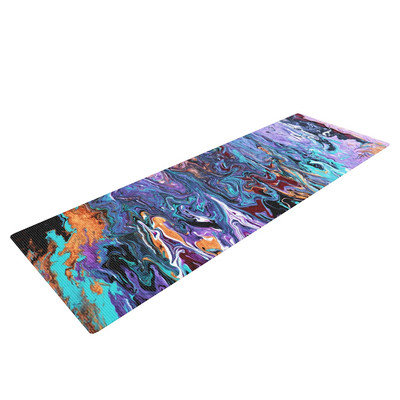 Kess Inhouse Lola by Claire Day Paint Yoga Mat
