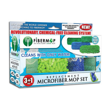 Dsd Group Fibermop 4 Piece Replacement Microfiber Mop Pad Set