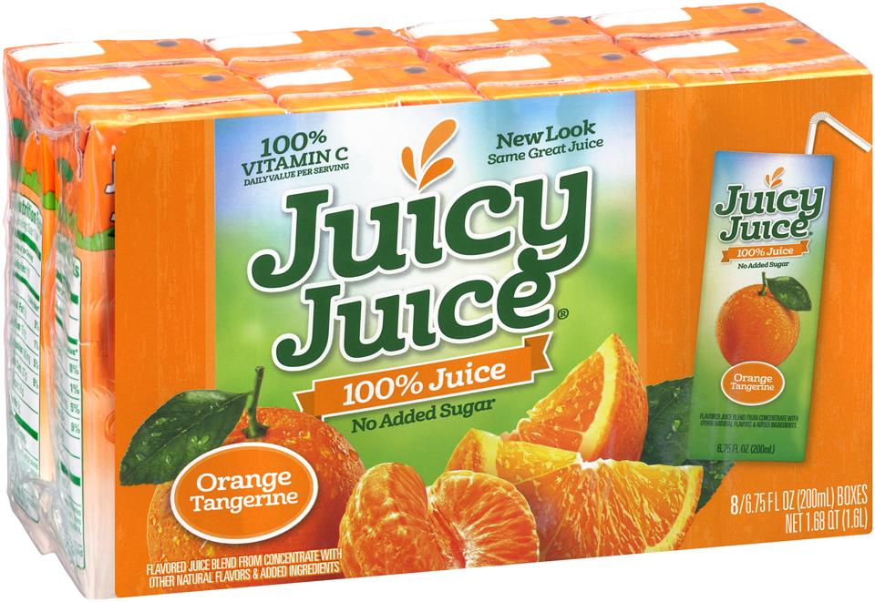 Juicy Juice® Orange Tangerine No Added Sugar 100% Juice 8-6.75 fl. oz. Boxes