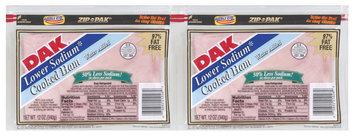Dak Lower Sodium Cooked 97% Fat Free 12 Oz Sliced Ham 2 Pk Zip Pak