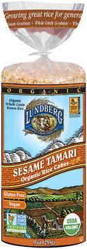 Lundberg® Organic Sesame Tamari Rice Cakes 9 oz. Bag
