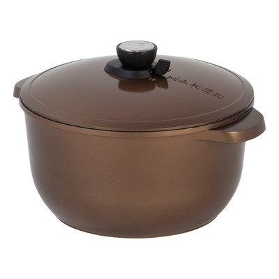 Maker Homeware SmartSteam 8 QT Classic Cookware Color: Black