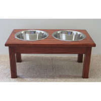 Classic Pet Beds TSD-M2qt-C Solid ash wood diner perfect for medium dogs stands
