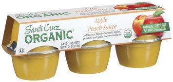 Santa Cruz Organic 4 Oz Apple Peach Sauce 6 Ct Cups