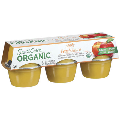 Santa Cruz Organic 4 Oz Apple Peach Sauce 6 Ct Cups
