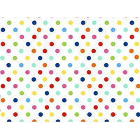 Stwd Primary Polka Dots Woven Portable Mini Fitted Crib Sheet