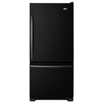 Amana 18.67 Cu. Ft. Bottom Freezer Refrigerator - Black