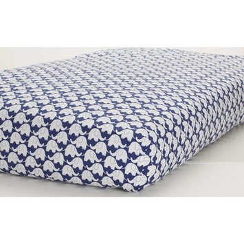 Just Born Sleep Well Navy/White Elephants Fitted Crib Sheet