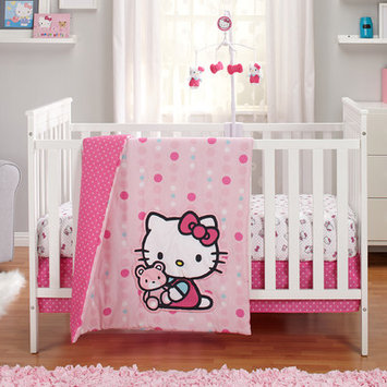 Hello Kitty Cute as a Button 3 Piece Crib Bedding Set