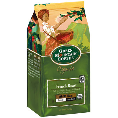 Green Mountain Coffee Roasters Whole Bean French Roast Regular Dark Roast Organic Coffee 10 Oz Stand Up Bag