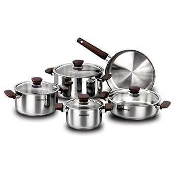 Ybm Home Korkmaz 10 Piece Cookware Set