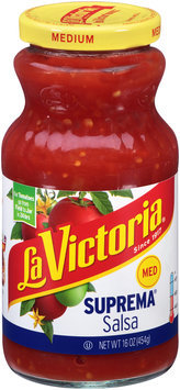 La Victoria® Medium Suprema® Salsa 16 oz. Jar