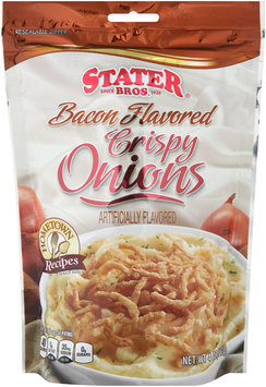 Stater Bros.® Bacon Flavored Crispy Onions 4 oz. Pouch