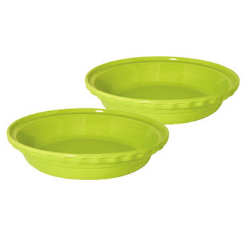Chantal 9.5-in. Bakeware Deep Pie Dish, Lime Green