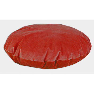 Brite Ideas Living Classic Velvet Round Dog Bed Pillow Color: Sangria, Size: Small (36