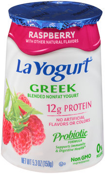 La Yogurt® Strawberry Greek Blended Nonfat Yogurt 5.3 oz. Cup